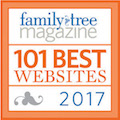 Olive Tree Genealogy website chosen by Family Tree Magazine as one of 101 Best Genealogy Websites 2017