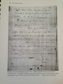 Sample Page The Peer Family in North America Vol.1: Jacob & Anne Peer, Immigrants from new Jersey to Upper Canada 1796