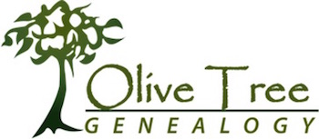 OliveTreeGenealogy.com logo for Olive Tree Genealogy and its free free genealogical resources