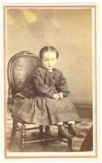 CDV with square corners ca 1872