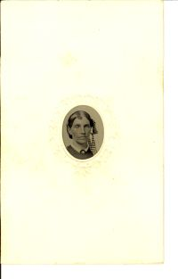 Example of Gem tintype in Oval Matte ca 1860s