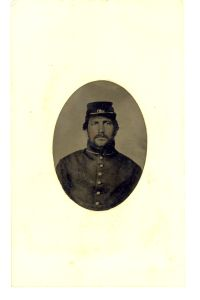 photo-tintype 1.5x2.5 Civil War Soldier
