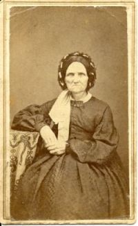 Example of CDV with rounded corners Civil War Era - Jemima Van Slyke