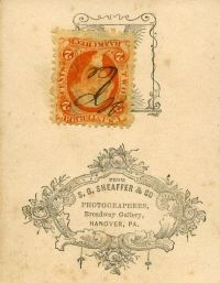 2 cent orange George Washington revenue stamp